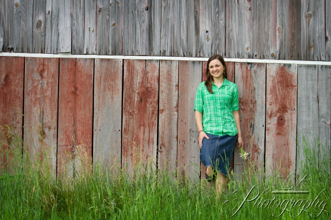 senior picture, green plaid, barn, rustic, background