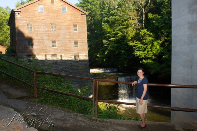 senior picture, old mill, landscapes, waterfall, portrait