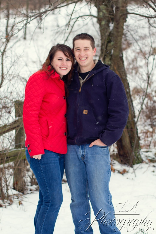 snow engagement,  red, cute, winter